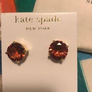 Brown Kate Spade Studs